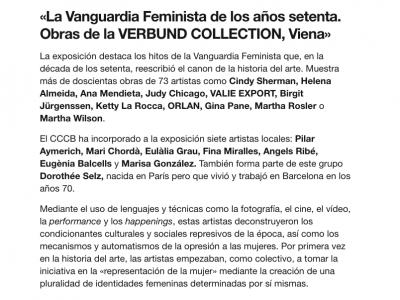 Exposición en el CCCB de Barcelona 2019