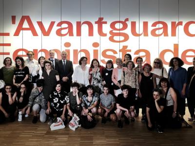 inauguracion Feminismos con participantes y autoridades 2019